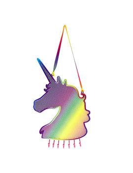 Rainbow Unicorn Mesh Locker Holder by Claire's
