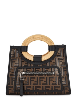 Runaway Small Monogrammed Top Handle Bag by Fendi