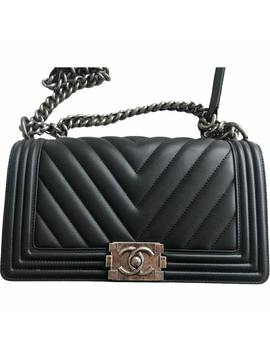 Boy Leather Handbag by Chanel