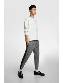Plaid Pants With Stripe by Zara