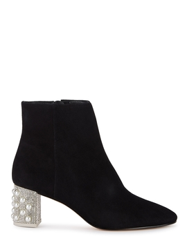 Toni 65 Embellished Suede Ankle Boots by Sophia Webster
