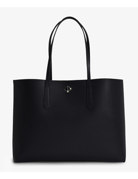 Molly Large Tote In Black Leather by Kate Spade