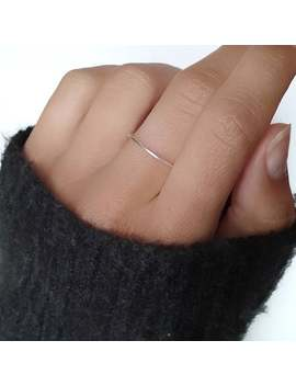Dainty Thin Plain Ring   Silver, Brass And Copper / Simple Thin Ring / Midi Ring / Pinky Ring / Minimalist Ring by Etsy