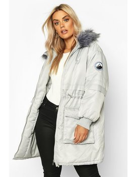 Plus Faux Fur Hooded Parka by Boohoo
