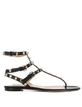 Valentino Garavani Rockstud Thong Sandals by Valentino