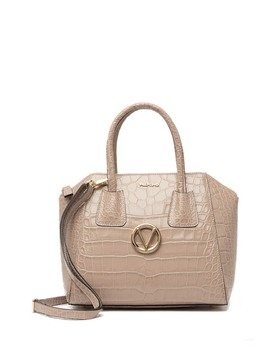 Minimi Croc Embossed Leather Satchel by Valentino By Mario Valentino