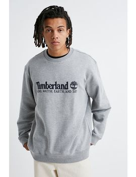 Timberland Uo Exclusive Wind, Water, Earth And Sky Grey Crew Neck Sweatshirt by Timberland