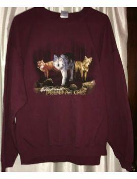 Nature Sweatshirt Xl American Outdoors Wolves Wildlife Woodland Predators by Gildan