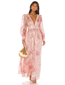 Cyrena Dress In Pale Rose Pink by Love Shack Fancy
