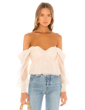 X Revolve Burna Blouse In Cream by House Of Harlow 1960