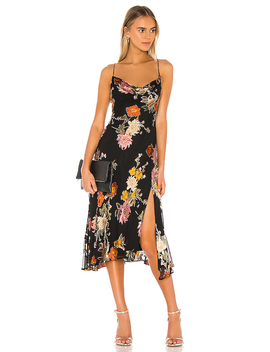 Gaia Dress In Black Multi Floral by Astr The Label