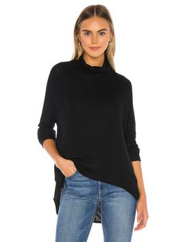 Draped Rib Cowl Neck Sweater by Bobi