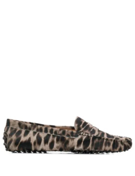 Leopard Gommino Loafers by Tod's