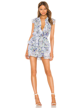 Alona Dress In Periwinkle Floral by Misa Los Angeles