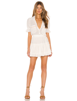 Giedra Dress In Ivory & Gold by Misa Los Angeles