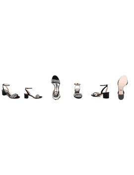 Women's Ivanna Crystal Embellished Block Heel Sandals by Badgley Mischka