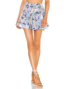 X Revovle Marion Skirt In Periwinkle Floral by Misa Los Angeles
