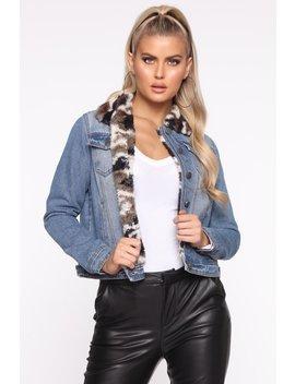 Camo Over Here Jacket   Med Wash/Combo by Fashion Nova