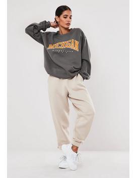 Grey Michigan Graphic Sweatshirt by Missguided