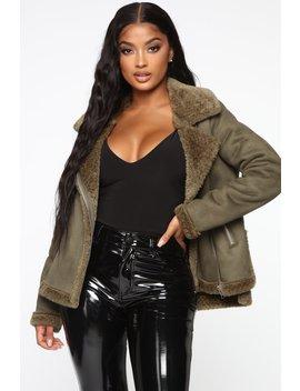 Giving Hints Moto Jacket   Olive by Fashion Nova