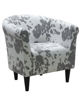 Fox Hill Savannah Club Chair   Cowhide Silver by Fox Hill