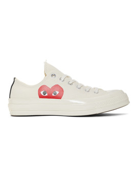 Off White Converse Edition Half Heart Chuck 70 Sneakers by Comme Des GarÇons Play