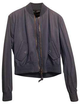 Periwinkle Blue Nappa Jacket by Versace