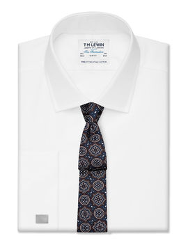 Slim Fit White Royal Oxford Double Cuff Shirt by T.M.Lewin