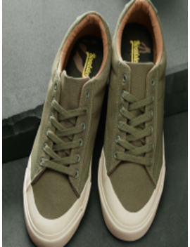Men Olive Green Sneakers by Roadster