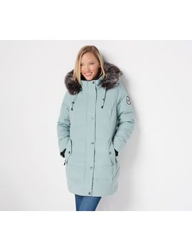 Arctic Expedition Quilted Down Coat With Removable Hood by Arctic Expedition