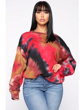 Not Blending In Tie Dye Top   Multi Color by Fashion Nova