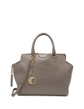 Pebble Leather Satchel by Versace