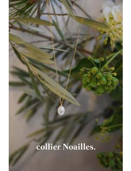Noailles   Gold Chain 14 K Gold Filled With Real White Cultured Pearl In Pendant   Gold Filled Necklace   Wedding Jewel   Christmas Gift by Etsy