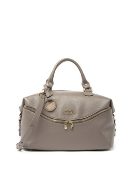 Leather Slouchy Satchel by Versace