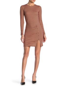 Ruche Print Vent Mini Dress by Velvet Torch