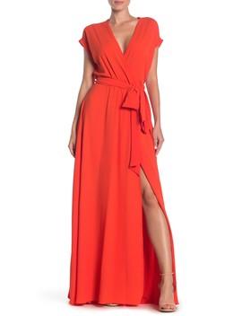 Jasmine Faux Wrap Maxi Dress by Meghan La