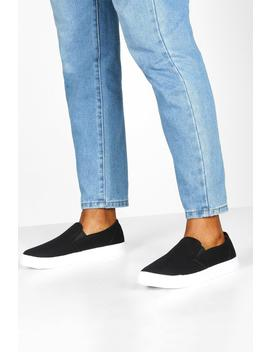 Basic Slip On Skater Trainers by Boohoo
