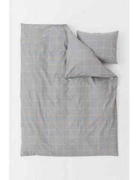 Постельное белье в клетку by H&M
