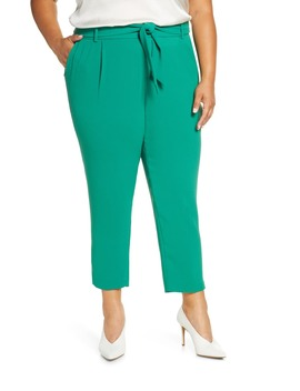 Tie Waist Slim Fit Trousers by Eloquii
