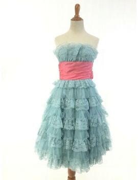 Betsey Johnson Evening Dress Prom Vintage Party Blue Pink 1950s 50s 0 2 Xs Retro by Ebay Seller