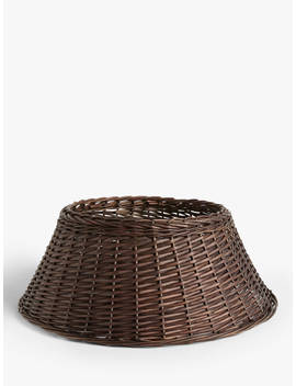 John Lewis & Partners Campfire Willow Tree Skirt, Espresso by John Lewis & Partners