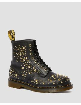 1460 Midas Gold Stud Leather Boots by Dr. Martens