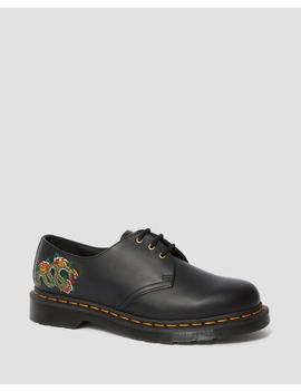 1461 Dragon Embroidered Leather Lace Up Shoes by Dr. Martens