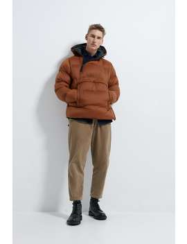 Quilted Pouch Pocket Parka by Zara