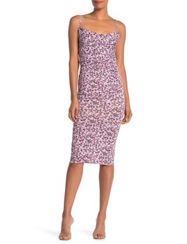 Ruched Front Floral Print Dress by Velvet Torch