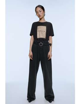 T Shirt With Front Print by Zara