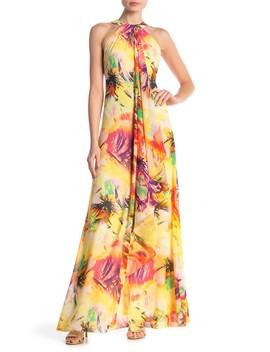 Aphrodite Halter Maxi Dress by Meghan La