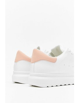 Contrast Back Tab Flatform Trainers by Nasty Gal