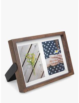 """Umbra Axis Double Photo Frame, 4 X 6"""" (10 X 15cm), Walnut by Umbra"""