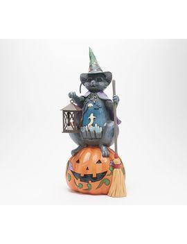 "Jim Shore 20\"" Oversized Black Cat W/ Illuminated Lantern by Jim Shore"